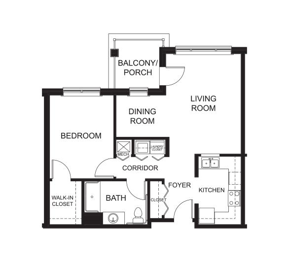 1 Bedroom / 1 Bathroom w/ Den