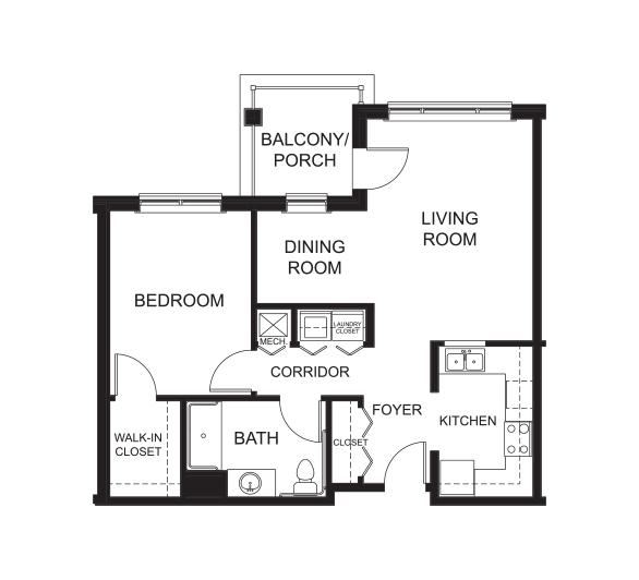 1 Bedroom / 1 Bathroom w/ Den