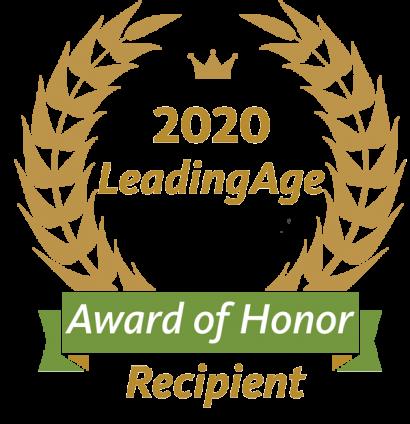 2020 LeadingAge Award of Honor Recipient