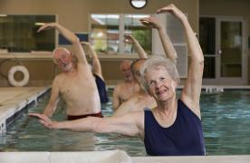 Aerobics class at Homewood Martinsburg